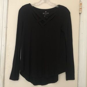 Soft and sexy long sleeve American eagle top